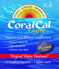 CoralCal Daily Coral Calcium 6 sets 180 Sachets Alkalize Water Body PH Tea Bag