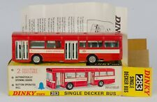 283 Dinky Toys Single Decker Bus. Red. VNMINT/Boxed 1970's