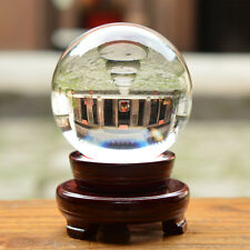 100mm Big Clear Crystal Ball Quartz Sphere Photo Props Magic Free Stand + Box