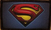 SUPERMAN LOGO Patch With VELCRO® Brand Fastener Funny Tactical Emblem