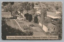 Paraiso Hot Springs—Monterey County—Rare Antique PC Soledad Greenfield 1910s