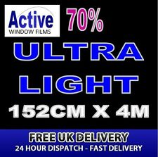 152cm x 4m - 70% Tint Ultra Light Car Window Tint Film Roll - Pro Quality Silver