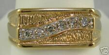 MEN'S 14K YELLOW GOLD DIAMOND FASHION RING 1/3 CARAT