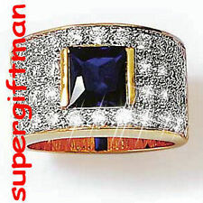 X024 - BAGUE OR / ring goud  SAPHIR CZ DIAMANTS CZ T59