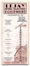 c1938 VINTAGE LEJAY MFG Co CATALOG WIND MILL & Electric Equipment MINNEAPOLIS MN