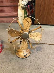 """RARE VINTAGE PAT.DATE  10"""" 1919 WESTINGHOUSE 4 BLADE OSCILLATING  ELECTRIC FAN"""