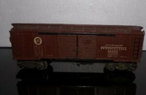 VINTAGE LIONEL LINES PRR X2758 PENNSYLVANIA AUTOMOBILES DOUBLE DOOR BOX CAR