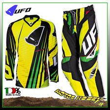 COMPLETO MOTOCROSS ENDURO MADE IN ITALY UFO CENTURY GIALLO NERO TAGLIA 3XL - 56