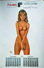 RARE affiche vintage ASLAN calendrier 1974 FULMEN - 60 x 90 cm