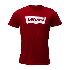 Levi's Men's, Red With Logo Print, short Sleeve, Crew Neck