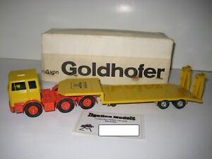 Mercedes 3-ACHS Goldhofer Low Loader #3010.3 Gescha 1:50 Boxed