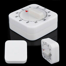 1Hour Mechanical Kitchen Cooking Desktop Game Countdown Timer Stop Alarm Clock B
