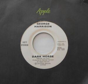 CANADA!!! NM- GEORGE HARRISON (BEATLES) Dark Horse 1974 APPLE 1877 45