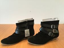 Casandra black ankle boots
