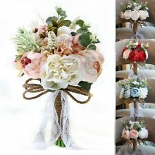TURE LOVE Bridal Roses Bouquet Accessories Bridesmaid Wedding Supplies Decor DIY