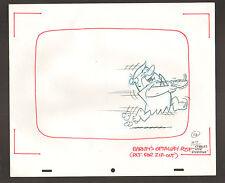 """Flintstones Animation Art - """"Rock Rockstone"""" Running Barney #11A Sc. 7"""
