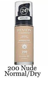 Revlon ColorStay Makeup 24Hr Wear Foundation 200 NUDE 30ml Normal/Dry Skin New