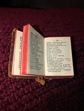 Rare Miniature French English Dictionary Lilliput Leather 1930c Printed Germany