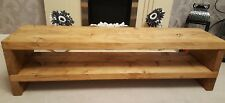 TV Stand Chunky Rustic Solid Tv unit /Pine Wood/Side Table 90 cm//5 colours