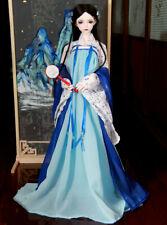 1/4MSD 1/3SD13/16 BJD Clothes Outfit Archaic Blue Fairy Suit 5 Pcs Full Set AOD