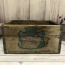 Vintage Canada Dry Wood Beverage Crate Pop Soda Wooden Box Advertising