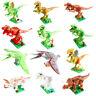8 / 12 PC Children DIY Dinosaur Building Blocks Kids Educational Toys Bricks Lot