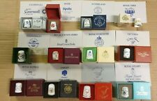 12 x Boxed Thimbles British & Irish Porcelain / China Houses Derby Worcester etc