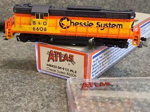 N Scale Atlas Locomotive Chessie B&O GP-9 Torpedo Tube #48423 BO 6606
