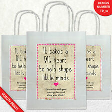 Personalised Thank You Gift Nursery Teacher Assistant PARTY BAGS GIFT BAG