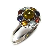 Citrine, Multi Gemstone Gemstone Handmade 925 Sterling Silver Ring Size 6 SR-251