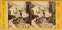 Italia Amalfi c1865 Foto Sommer Stereo Vintage Albumina