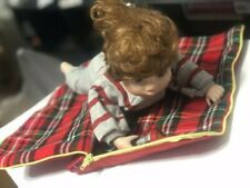 "12"" Danbury Mint Porcelain Doll ""Little Camper Joey"" By Elke Hutchens"