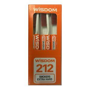 Original Wisdom 212 Smokers Extra Hard Brown Bristle Toothbrush