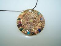 Sri Yantra Amulett Orgon Medallion Orgonit Amulett Anhänger Orgonitanhänger