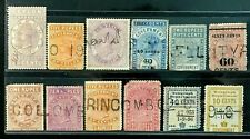 Ceylon Small Collection of Government Revenue and Duty stamps All Used (17-82)