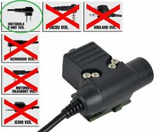 Airsoft PTT bouton radio ztactical Z sordins U94 Motorola 2 voie commutateur à 2 broches
