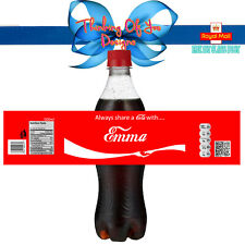 Personalised 'Share a Cola' 500ml Bottle Labels (Set of 5)