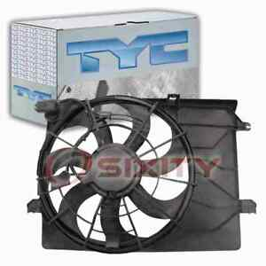TYC Dual Radiator & Condenser Fan Assembly for 2010-2015 Hyundai Tucson nf