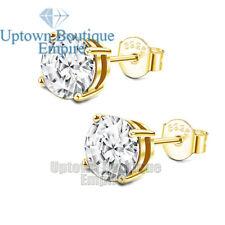 Men Women's 925 Sterling Silver Round Stud Earrings 2,3,4,5,6,7,8,9,10mm
