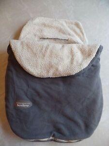 JJ COLE BUNDLEME CAR SEAT COVER stroller WARM FLEECE gray SOFT carrier blanket