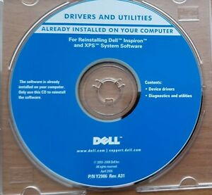 Genuine  New Drivers And Utilities Dell Inspiron XPS  P/N Y2986 Rev. A31 0G3714