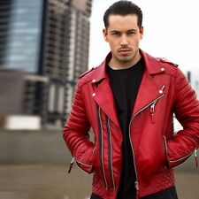 Red Leather Coats & Jackets for Men | eBay