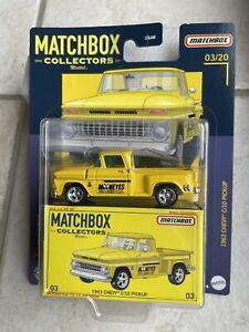 MATCHBOX 2021 COLLECTORS 1963 CHEVY C10 PICKUP MOONEYES GELB 1/64  #03/20