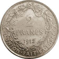 Belgium Belgique Belgie 2 Francs 1918 KM#74 Albert I - French Text (6662) silver