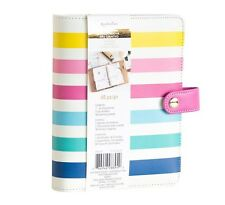 NEW Recollections 40 pc Personal Planner Binder A6 - Multicolor Rainbow Pink