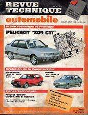 RTA revue technique automobile n° 505-506 PEUGEOT 309 GTI