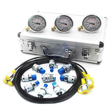 Hydraulic Pressure Test Kit, Hydraulic Test Gauge Kit For CAT KOMATSU Excavator