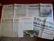 1936 1939 Guerra civile Spagna Generale Franco Legionari fascicolo +4 quotidiani