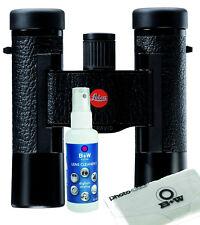 Leica Prismáticos Ultravid 10X25 Curtido, Negro Inkl.tasche Kit de Limpieza B&W