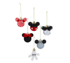 Disney Mickey Mouse Minnie Mouse Christmas Tree Decorations X6 Baubles Primark